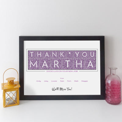 Personalised Retirement Print (silk style)