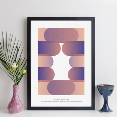 Personalised Favourite Music Album Print - round style