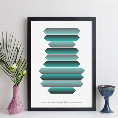 Personalised Favourite Music Album Art Print - arrow style