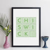 Personalised Location Print (Contemporary Style)