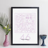 Personalised Birthday Crossword Print - classic style