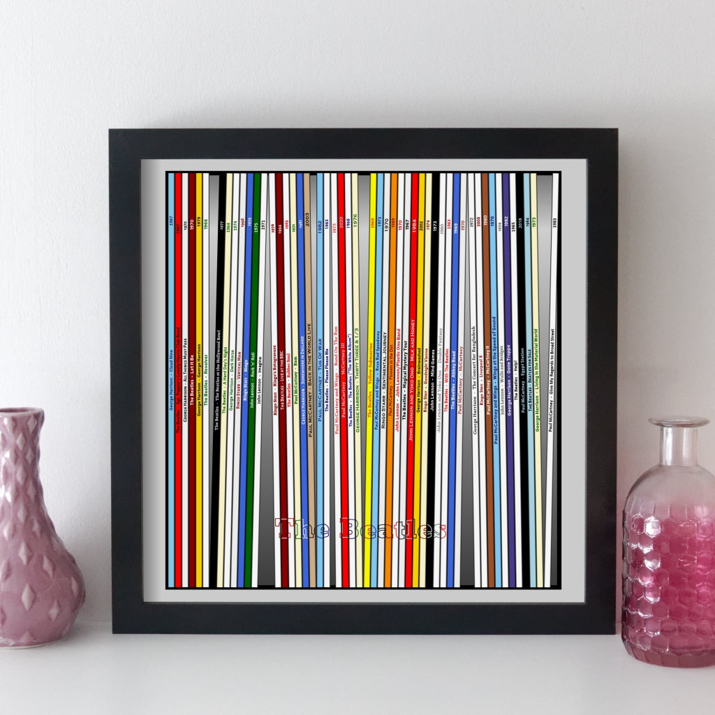 The Beatles Record Collection Print