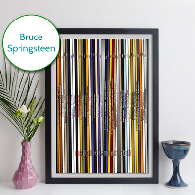 Bruce Springsteen Discography Print