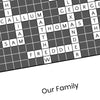 Personalised Traditional Crossword Print