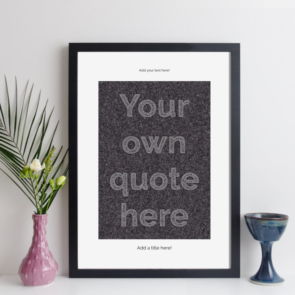 Personalised Quote Print - Modern