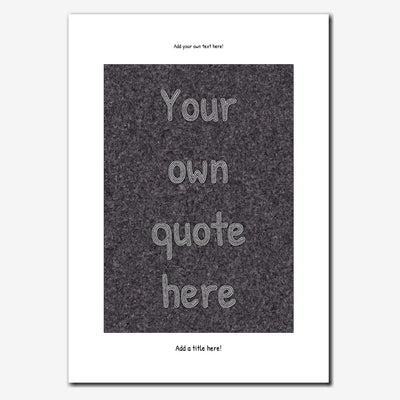 Personalised Quote Print - Handwritten