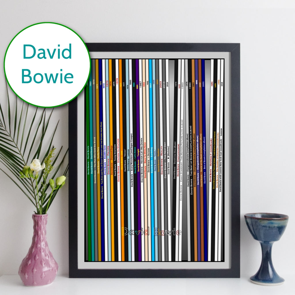 David Bowie Discography Print