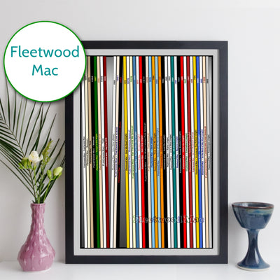 Fleetwood Mac Discography Print