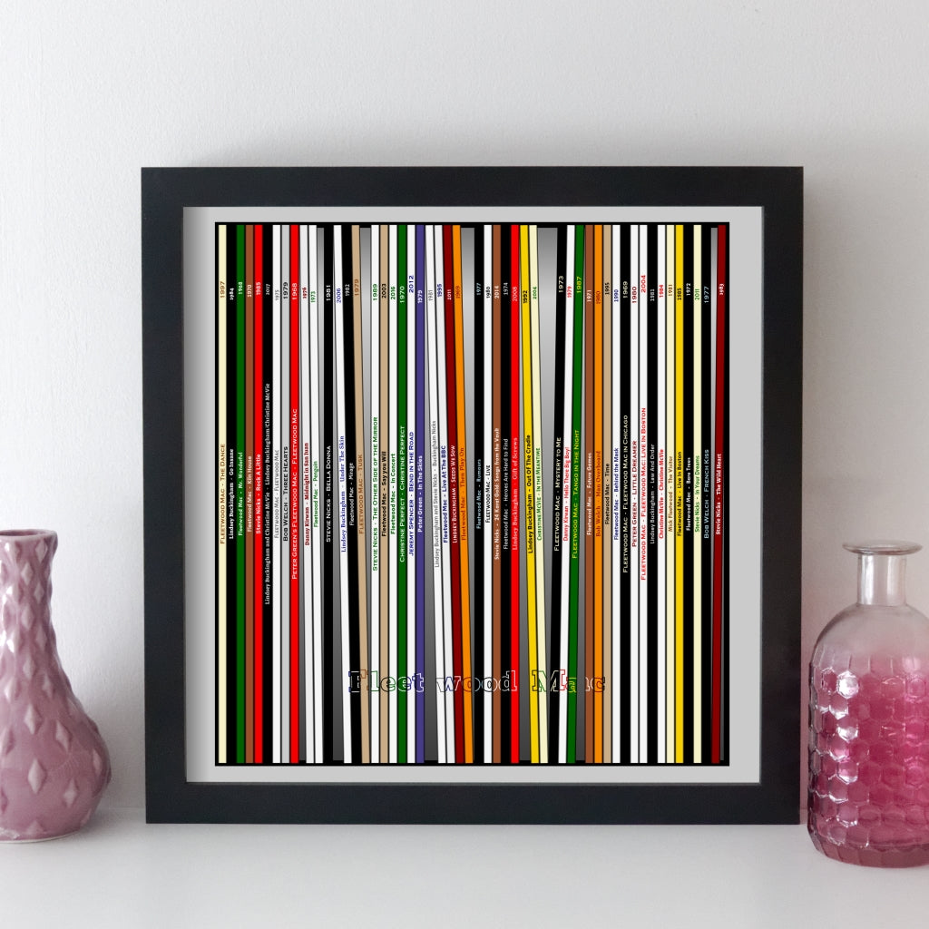 Fleetwood Mac Record Collection Print