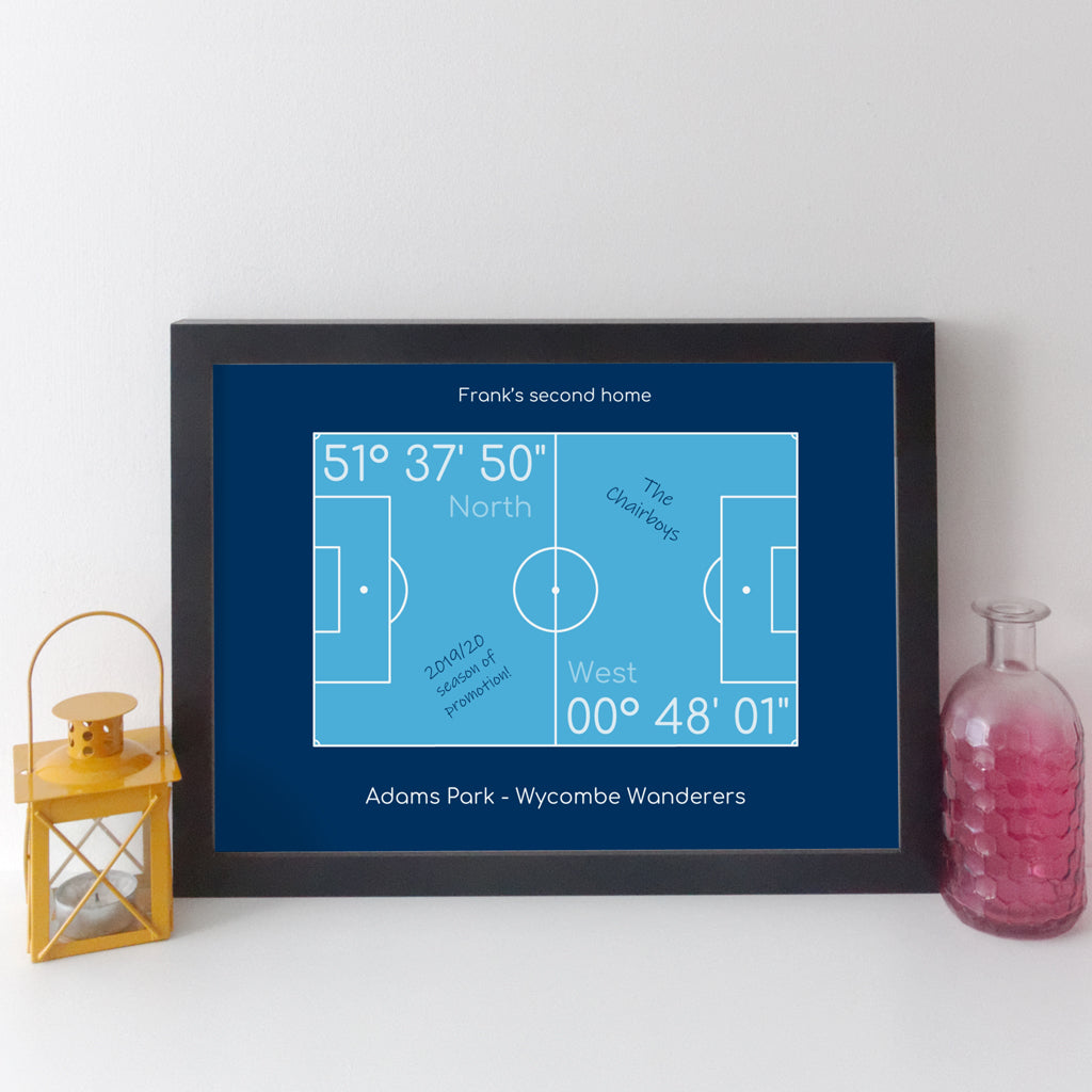 Personalised Football Team Coordinates Print