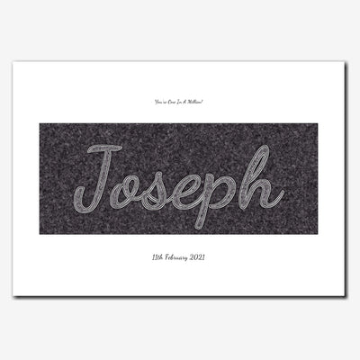 Printable Personalised Name Wall Art - Script