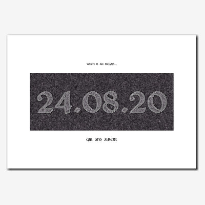 Printable Personalised Special Date Wall Art - Antique