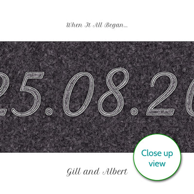 Printable Personalised Special Date Wall Art - Script