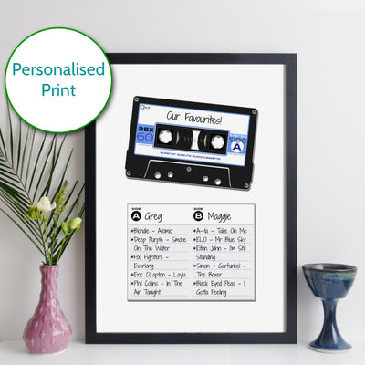 Personalised Cassette Mixtape Print