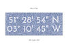 Personalised Coordinates Print - contemporary