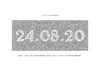 Personalised Date Print - Contemporary Antique