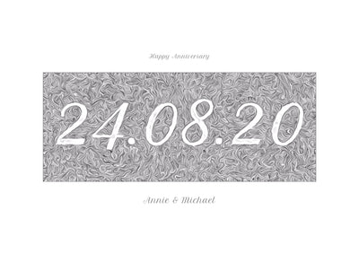 Personalised Date Print - Contemporary Script
