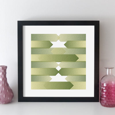Personalised Favourite Music Album Print - arrow style