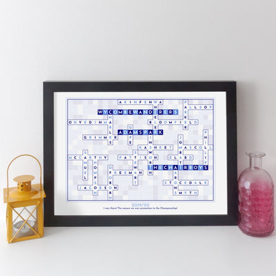 Football Team Crossword Print
