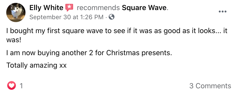 I bought my first square wave