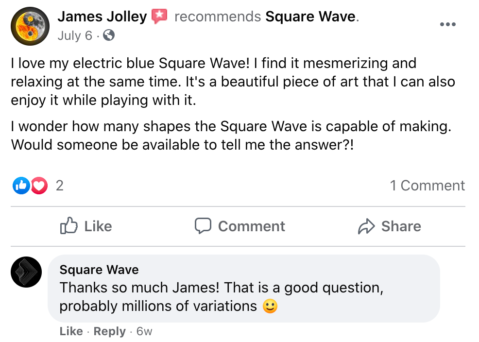 I love my electric blue square wave
