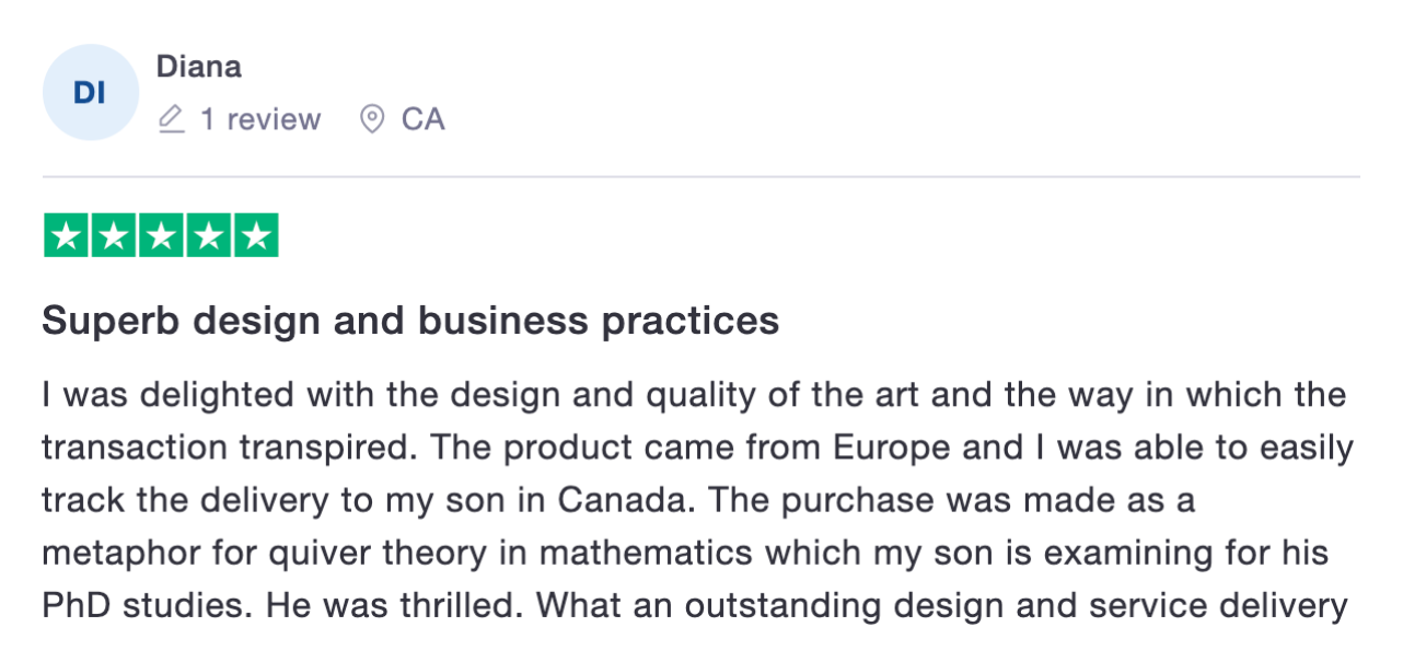 Superb design and business practices