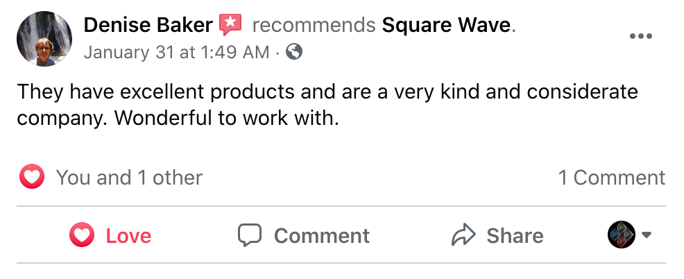 They have excellent products