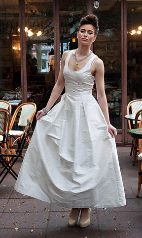Modern Ball Gown with Lace Racer Back