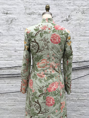 SOLD OUT! Mint Floral Tapestry Long Edwardian Coat