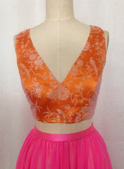 Mixed Media Racerback Crop Top