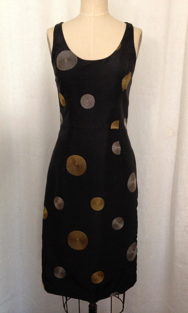 Dot Taffeta Racer Back Sheath Dress