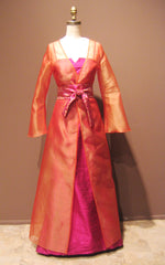 Long V-neck Organza Jacket