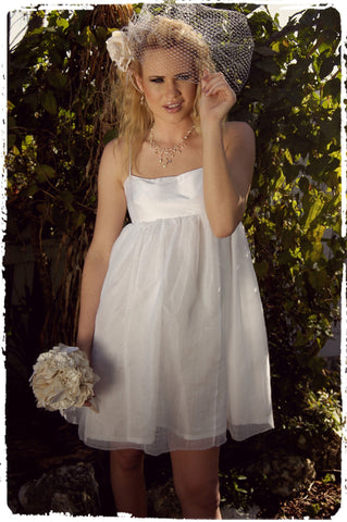 """Lolita"" Dress with Linen Gauze Skirt"