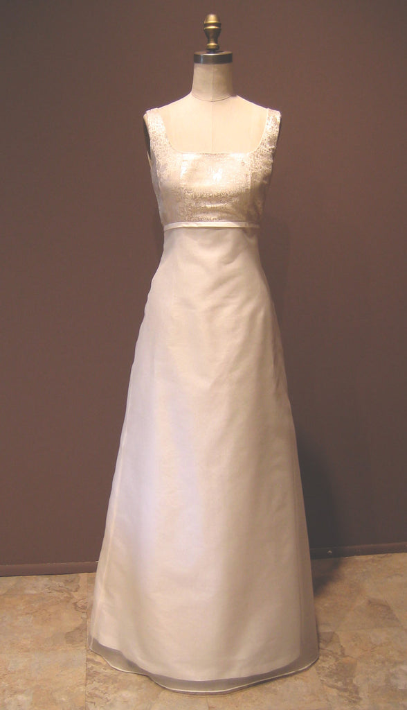 Classic Scoopneck Long Fishtail Wedding Gown Shopkimera