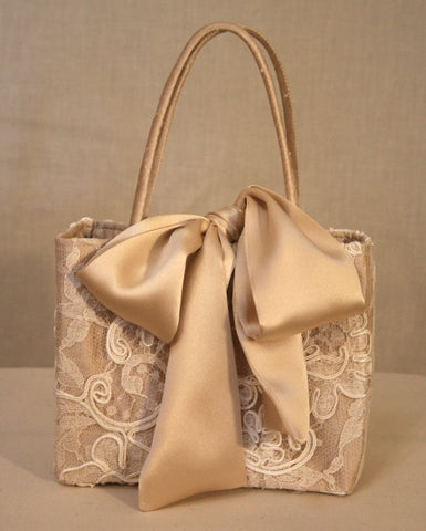 Lace Minibag with Satin Bow