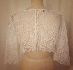 Cropped Chantilly Lace Topper