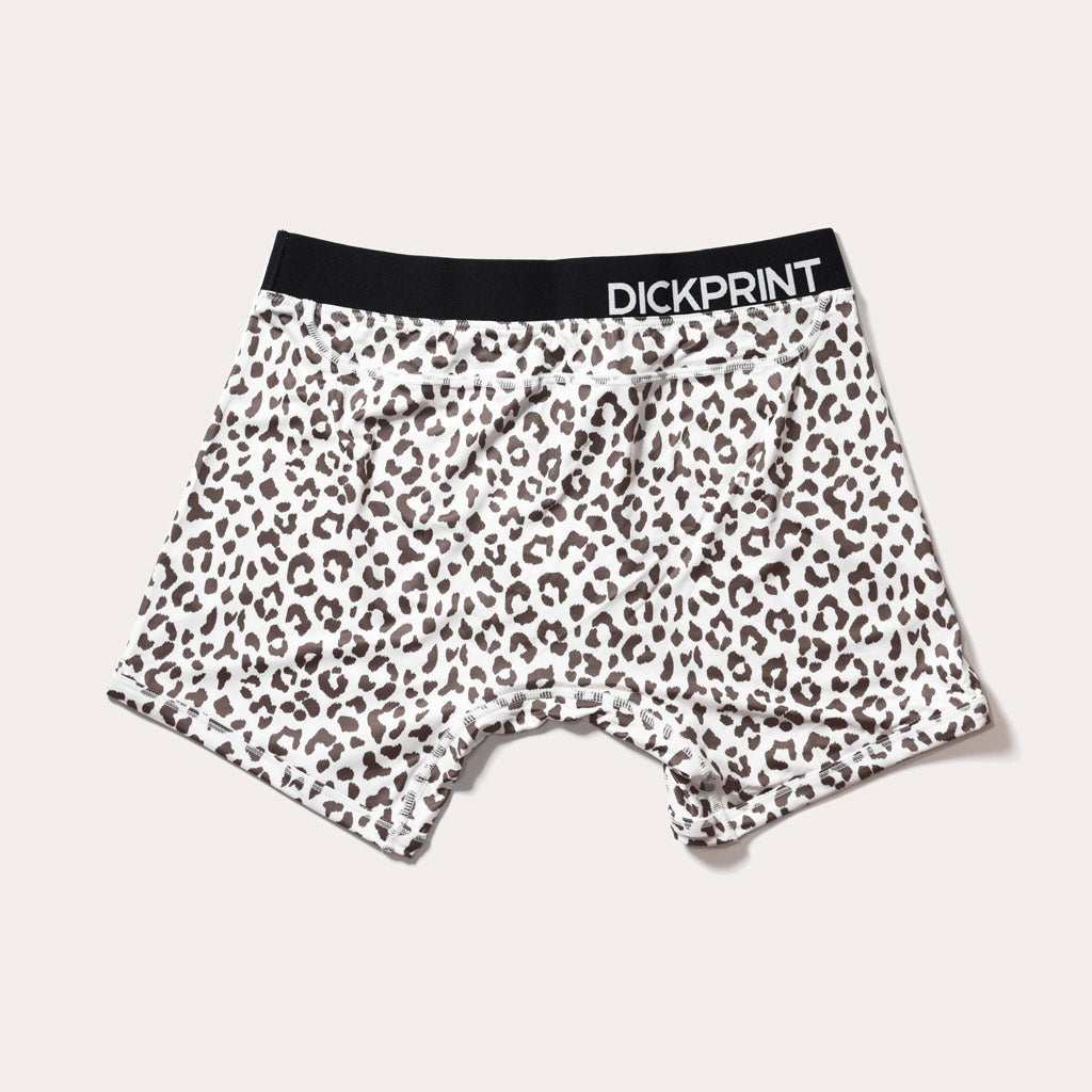 Luxe Life Boxer Brief - Leopard on White