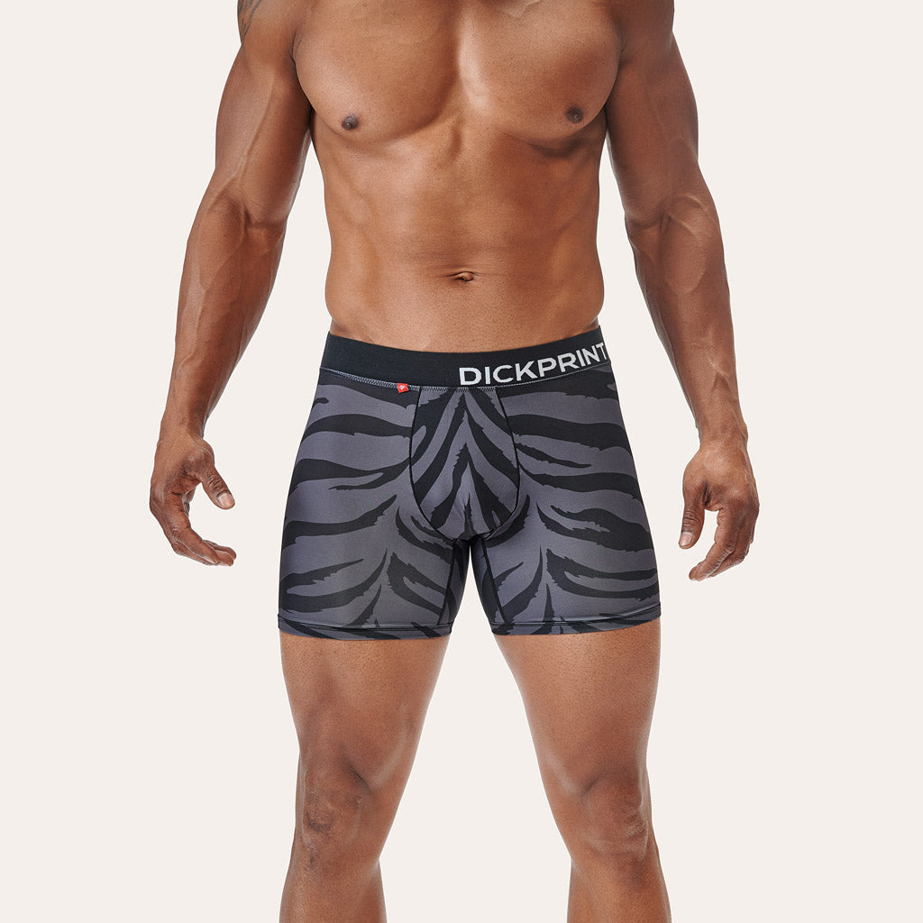 Luxe Life Boxer Brief - Grey Tiger