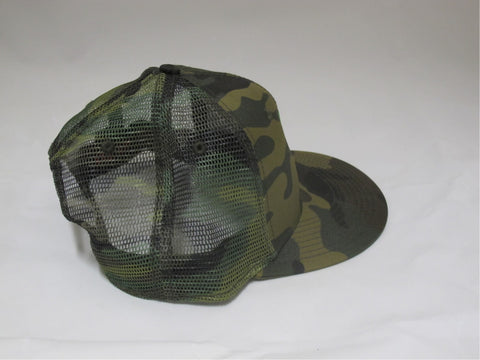 ReelFowl Snap Back Hat - Camo with Green Logo