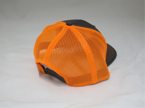 ReelFowl Snap Back Hat - Grey/Orange Trucker