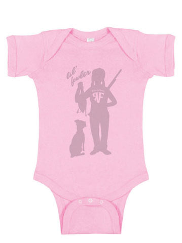 Lil Fowler Girls Onesie - Pink or Heather