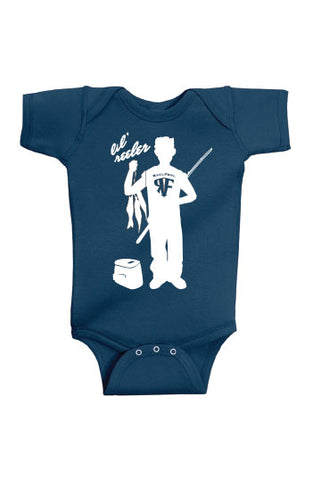 Lil Reeler Boys Onesie - Black or Navy
