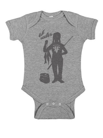 Lil Reeler Girls Onesie - Pink or Heather