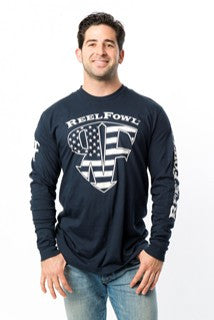 Stars and Stripes Long Sleeve Shirt - Navy