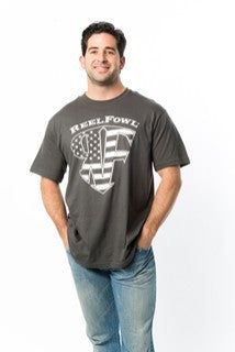 Stars and Stripes Short Sleeve Shirt - Black or Grey