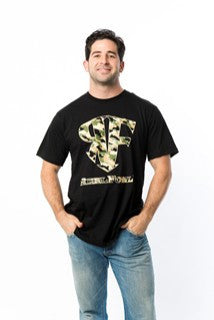 ReelFowl Camo Short Sleeve Shirt - Black or Military Green