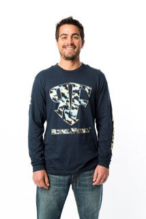 ReelFowl Camo Long Sleeve Shirt - Black, Grey or Navy