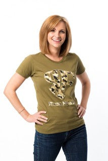 Womens ReelFowl Camo Short Sleeve Shirt - Black or Military Green
