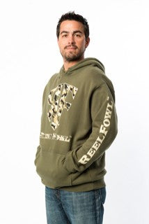 ReelFowl Camo Print Sweatshirt - Military Green