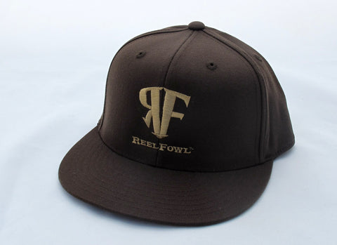 ReelFowl Flat Bill Hat - Brown
